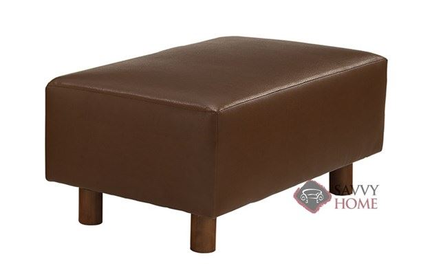 Calabasas Leather Bumper Ottoman by Lazar Industries
