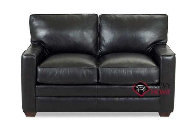Palo Alto Leather Loveseat by Savvy
