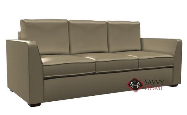 Strata 3-Cushion Leather Queen Sleeper by Lazar Industries