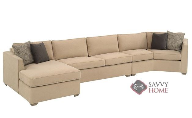 Strata Long Angled Chaise Sectional with 2-Cushion Condo Queen Sleeper