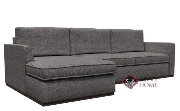 Strata Chaise Sectional with 2-Cushion Condo Queen Sleeper