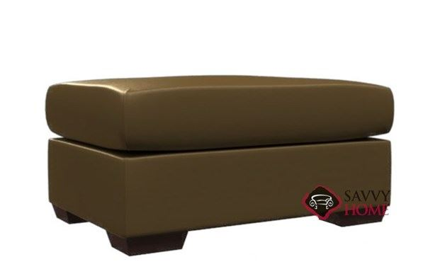 Sutton Place Leather Ottoman by Lazar Industries