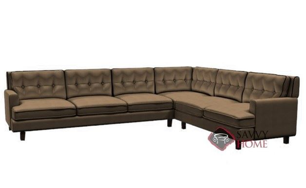 Barbara Leather Large True Sectional by Palliser