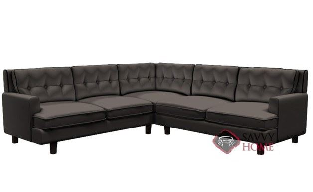 Barbara Leather Compact True Sectional Sofa By Palliser