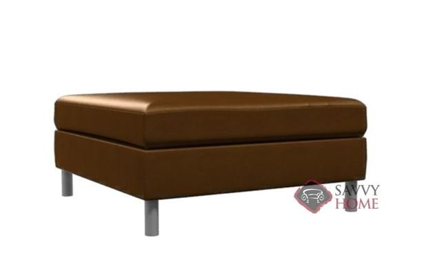 Soho Leather Cocktail Ottoman by Lazar Industries