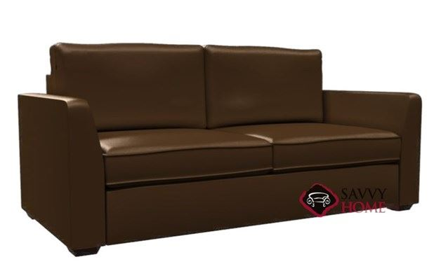 Strata 2-Cushion Leather Condo Queen Sleeper