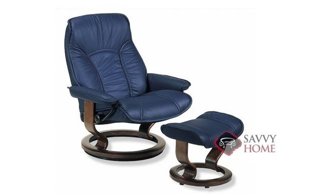 Governor Medium Leather Recliner and Ottoman by Stressless