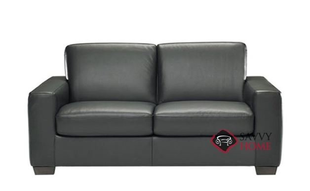 B534 Leather Loveseat shown in Belfast Black