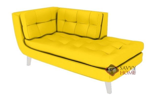 Ava Leather Chaise Lounge by Lazar Industries