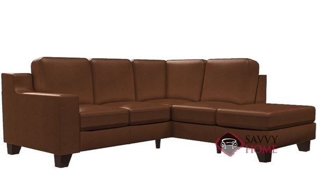 Reed Leather Compact Chaise Sectional Sofa by Palliser