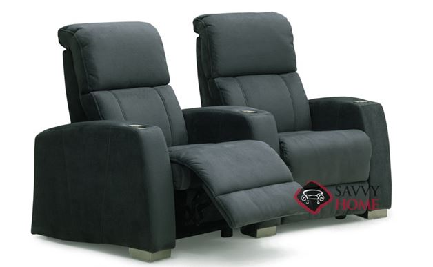Hifi Fabric Reclining Loveseat With Console By Palliser Is Fully