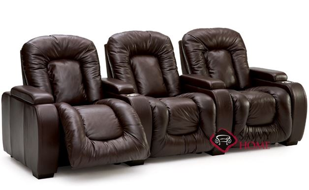 Rhumba 3-Seat Leather Reclining Home Theater Seating (Straight)