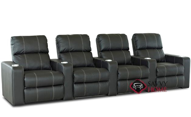 Springfield 4-Seat Leather Reclining Home Theater Seating (Straight)