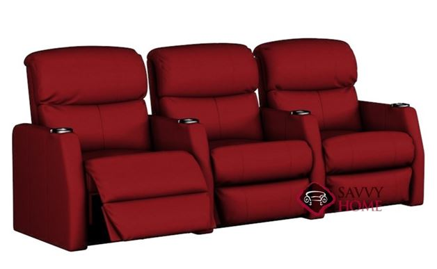 Atlantis 3-Seat Leather Reclining Home Theater Seating (Straight)