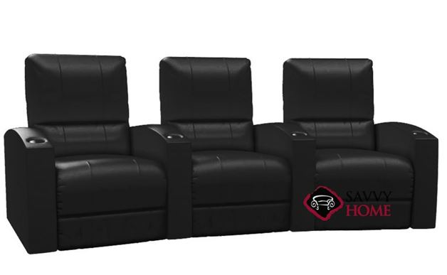 Pacifico 3-Seat Leather Reclining Home Theater Seating (Curved)