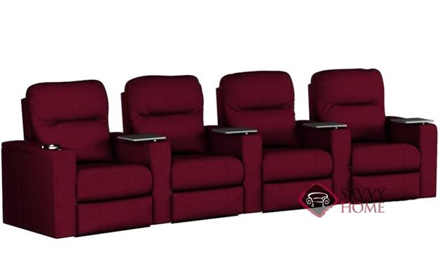 Pleasantville 4-Seat Reclining Home Theater Seating (Curved) by Savvy