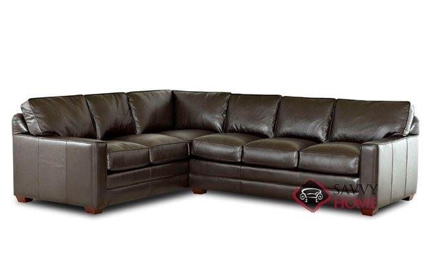 Palo Alto Leather True Sectional Sleeper Sofa by Savvy