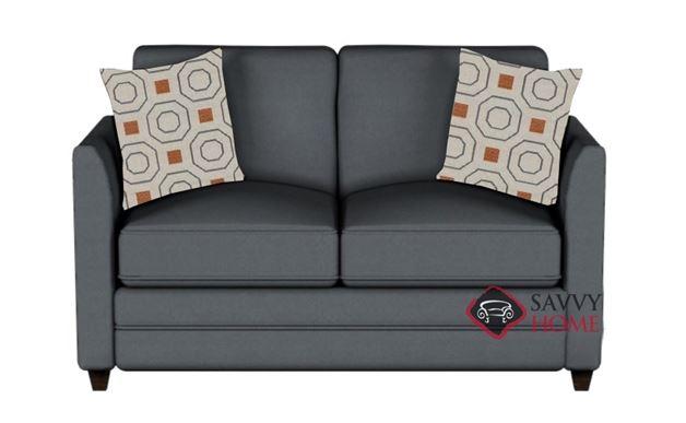 Valencia Twin Sleeper Sofa in Microsuede Charcoal