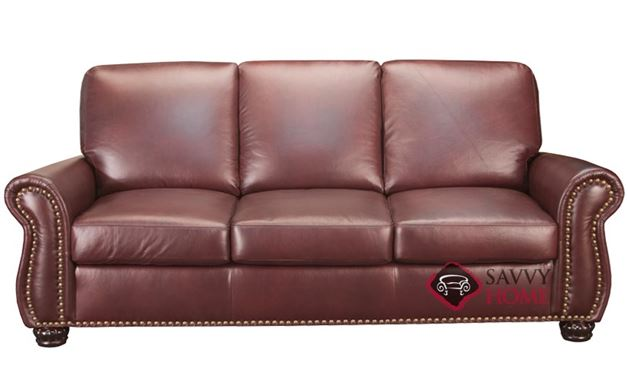 Taylor Leather Sofa by Leather Living in Chili
