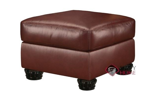 Charter Leather Ottoman