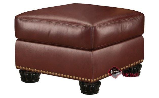 Taylor Leather Ottoman