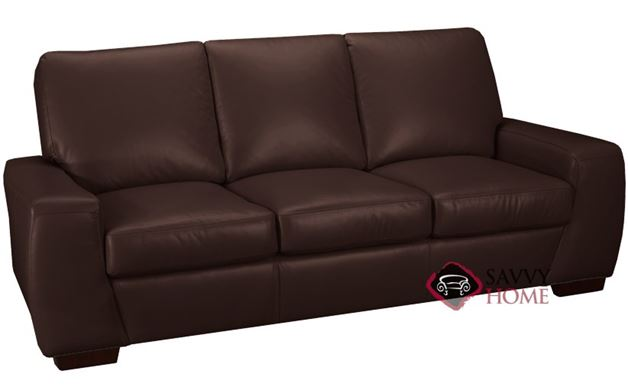 Kennedy Leather Sofa in Chocolate