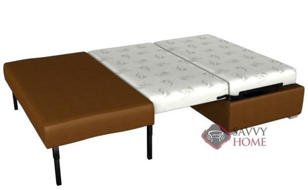Cameron Paragon Full Ottoman Leather Sleeper by Lazar Industries