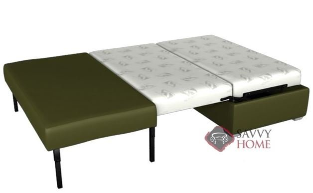 Pelham Paragon Full Ottoman Leather Sleeper by Lazar Industries