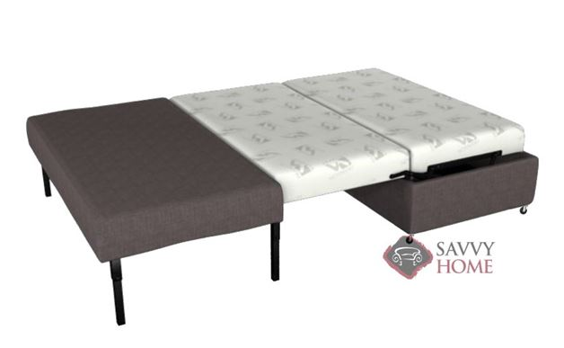 Pelham Paragon Full Ottoman Sleeper by Lazar Industries in Dumdum Charcoal