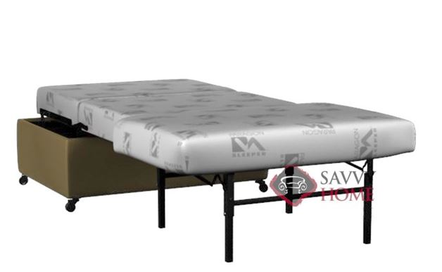 Somerset Paragon Twin Ottoman Leather Sleeper by Lazar Industries
