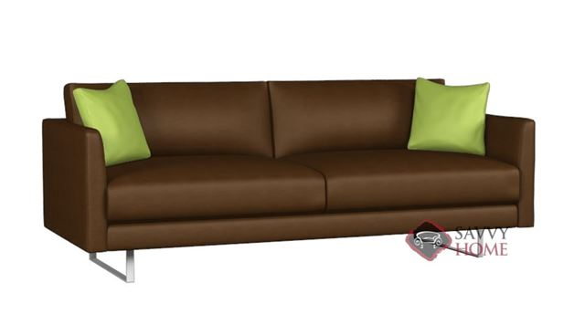 Clarice Leather Sofa by Lazar Industries
