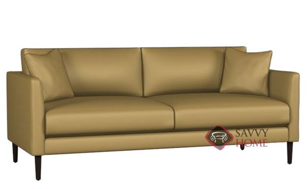 Clarice Leather Condo Sofa by Lazar Industries