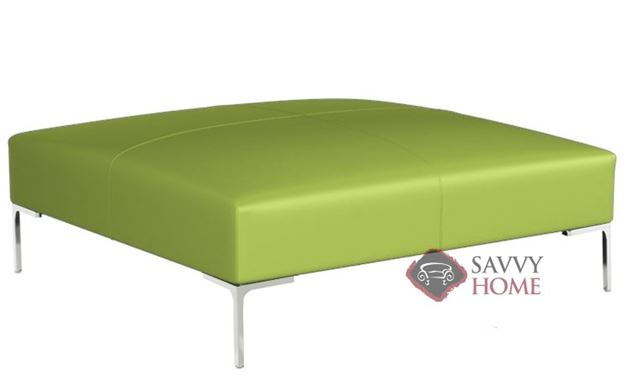 Pesaro Leather Cocktail Ottoman by Lazar Industries
