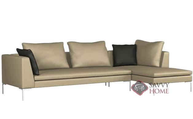 Pesaro Leather Chaise Sectional by Lazar Industries