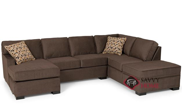 The 146 Dual Chaise Sectional Queen Sleeper Sofa with Storage by Stanton