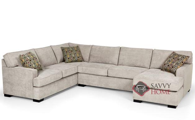 The 146 U-Shape True Sectional Queen Sleeper Sofa by Stanton in Bennett Moon