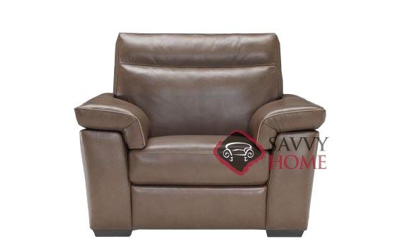 Cervo (B757-003) Leather Arm Chair by Natuzzi Editions
