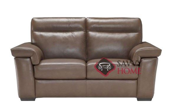 Cervo (B757-193) Reclining Leather Loveseat by Natuzzi Editions