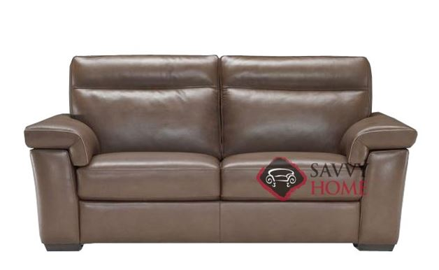 Cervo (B757-146) Reclining Leather Studio Sofa by Natuzzi Editions