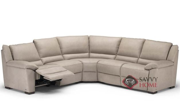 A319 Genoa Reclining Leather True Sectional by Natuzzi