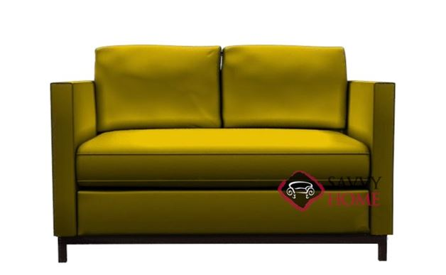 York Leather Loveseat by Lazar Industries