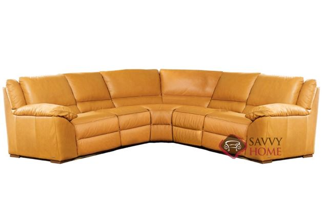 A319 Genoa Leather True Sectional by Natuzzi