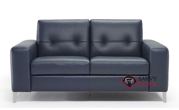Po (B883-005) Leather Loveseat by Natuzzi Editions