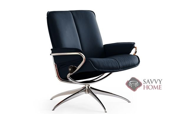City Low-Back Reclining Chair by Stressless in Paloma Black