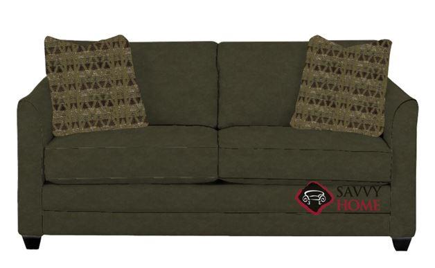 Valencia Full Sleeper Sofa in Microsuede Thyme
