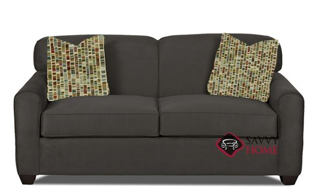 Zurich Full Sleeper Sofa in Dumdum Charcoal