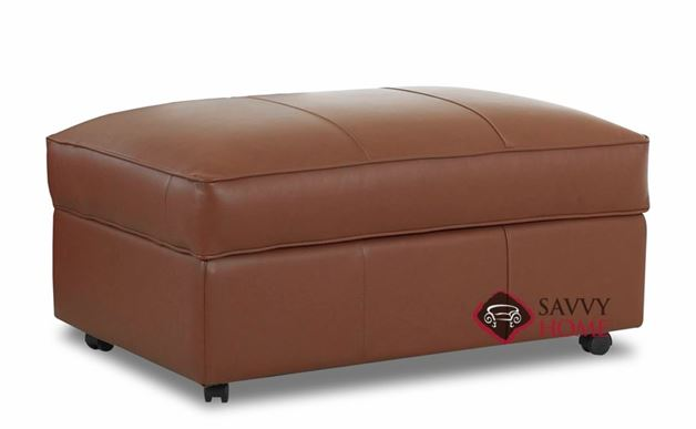 Calgary Leather Storage Ottoman by Savvy