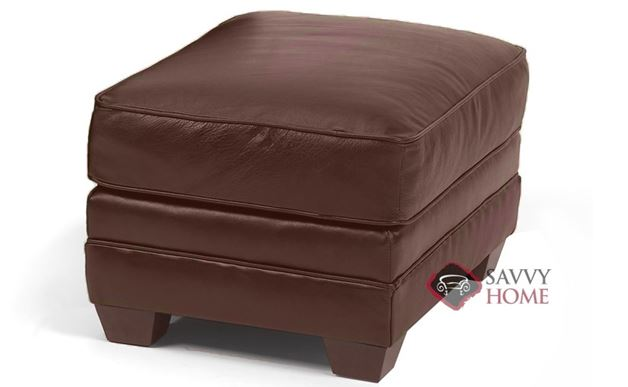 Calgary Leather Ottoman by Savvy
