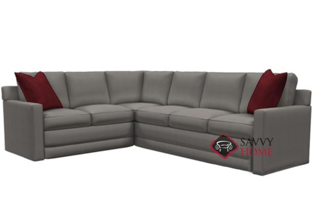 Broadway Leather True Sectional Queen Sleeper by Lazar Industries