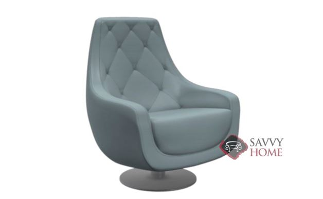 Baci Leather Swivel Chair by Lazar Industries
